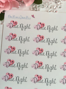 Kawaii Date Night Stickers :