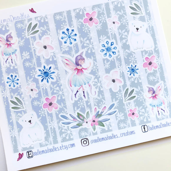 Snow Fairy Decorative Stickers