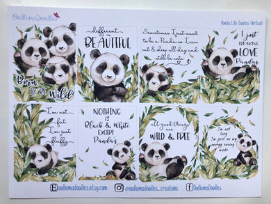 Panda Life Quote Stickers