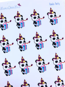 Kawaii Panda Party Stickers