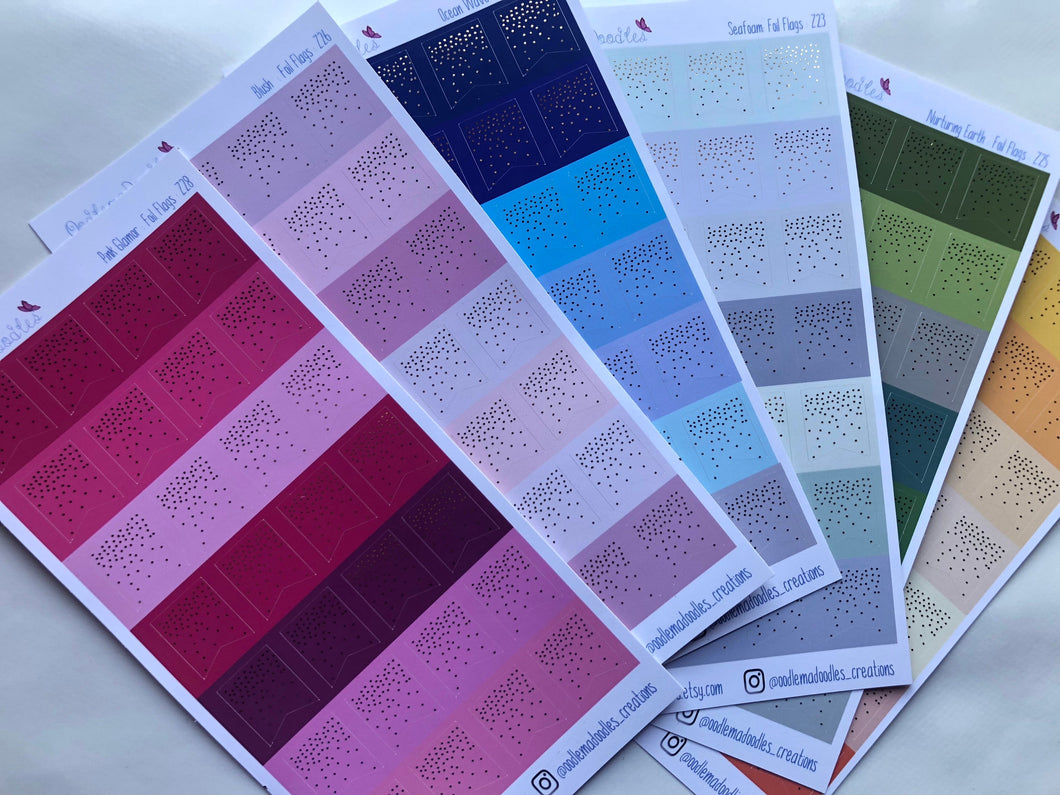 Foiled Page Flag Stickers: BUNDLE