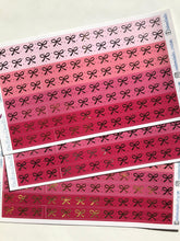 Bow 'Washi' Strips:Strawberry,Sweetheart, Blossom, Rose