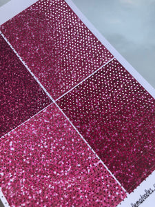 Foiled Hot Pinks Header Stickers