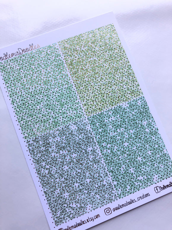 Foiled Mint Green Header Stickers