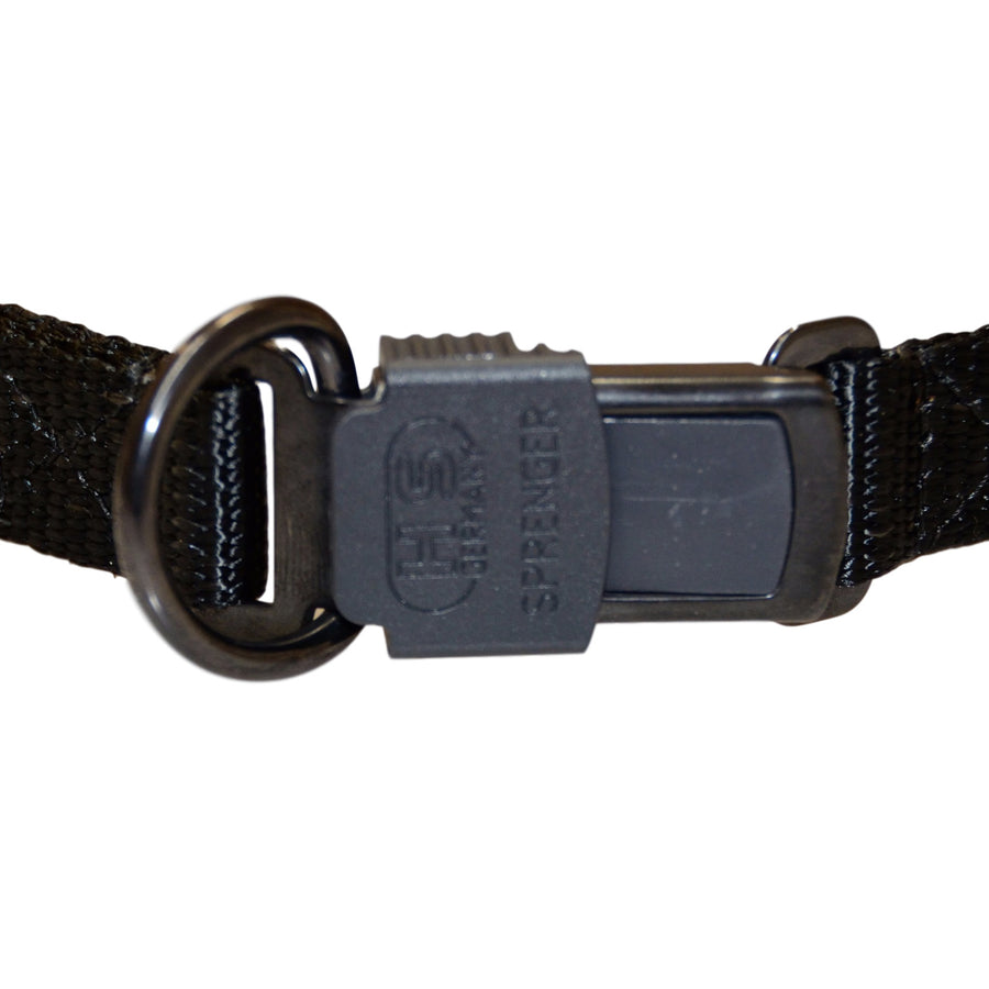 Sprenger Black Stainless Steel Prong Collar With Click Lock