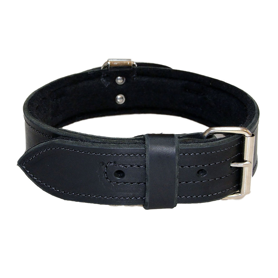 Leather Collar With Handle And Felt - 2