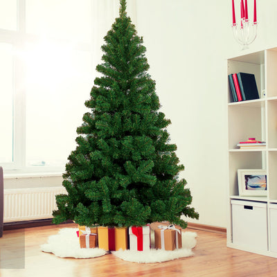 Seven point five ft Hinged Fir Pencil Artificial Christmas Tree With Metal Foldable Stand