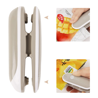Mini Bag Sealer Heat Sealer and Cutter Handheld Portable for Plastic Bags Food Storage Battery Not Included