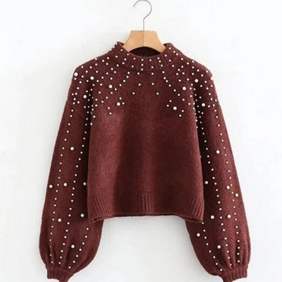 Autumn and winter new round neck loose sweater