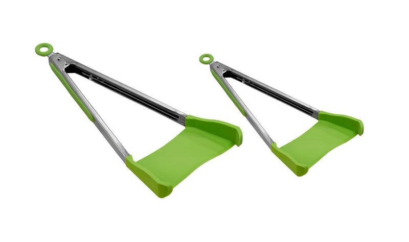 Silicone 2 in 1 Kitchen Spatula Silicone Tongs ,Clever Tongs
