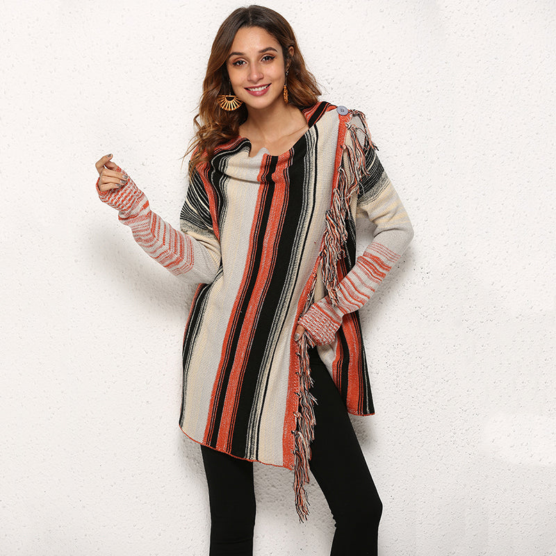 Shawl knit cardigan sweater coat