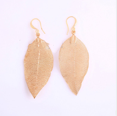 European and American jewelry new trend temperament long leaves earrings female earrings jewelry