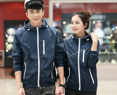 Thin windbreaker casual jacket outdoor sports hooded jacket