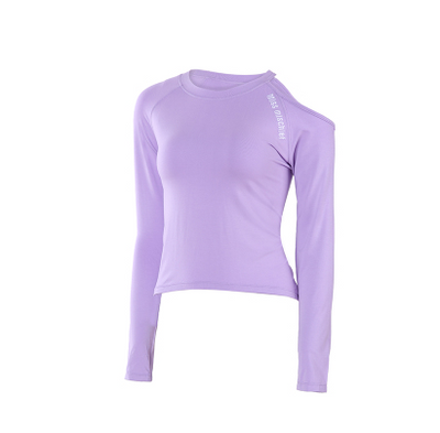 Sports Top Women's Long Sleeve Slim Strapless Quick-drying Breathable Fitness T-Shirt