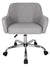 Home Office Chair Padded Computer Task Chair Adjustable Desk Chair with Swivel Casters for Office Leisure Grey