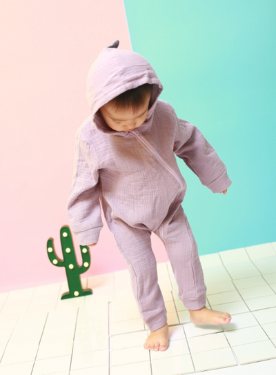Hooded Dino Romper