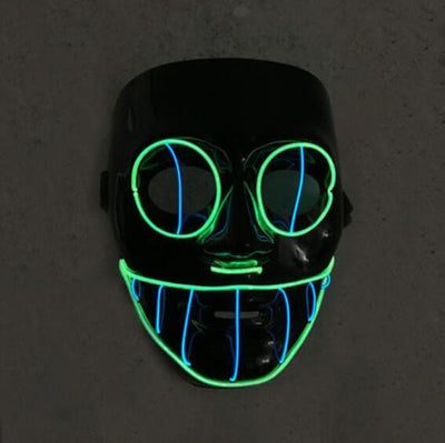 Halloween Prom Party PVC Glowing Mask