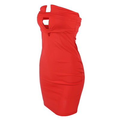 Sexy wrapped chest European and American women's halter tight nightclub dress