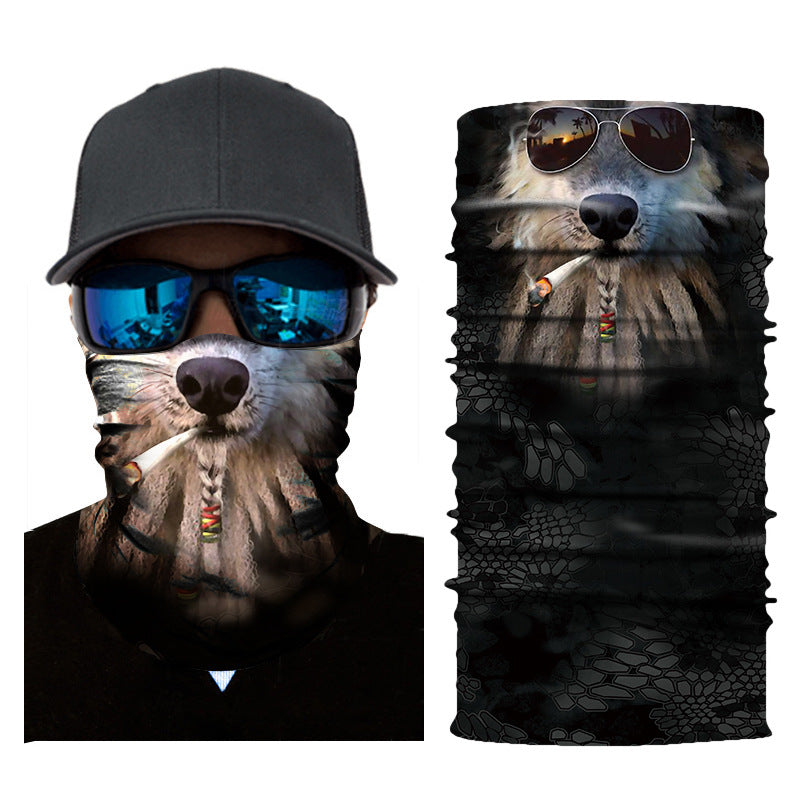 3D Animal Seamless Magic Scarf Headwear Outdoor Sports Mask