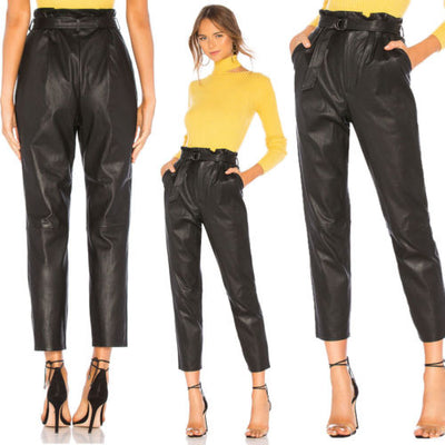 Fashion casual leather pants