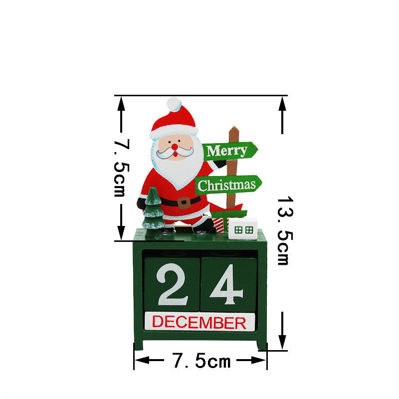 Christmas wooden calendar ornaments