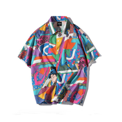 Printed short sleeve shirts for men and women