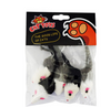 Cat toy cat fake mouse toy tiantian cat rabbit skin mouse (5 packs) funny cat toy