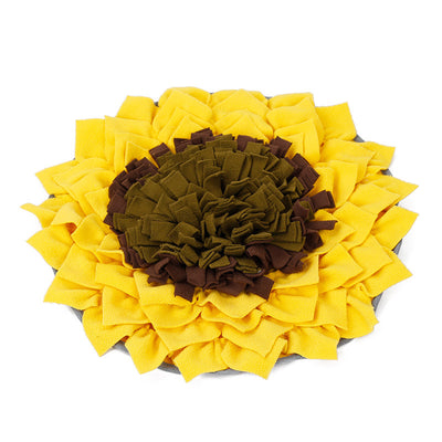 Pet sniffing pad Sunflower flower sniffing blanket Puzzle anti-mite food training dog yoga mat slow food dog bowl