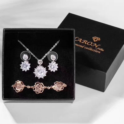 Ladies Dinner with Necklace Earrings Bracelet