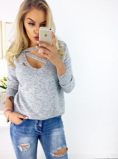 European and American wool V-neck long-sleeved T-shirt tops