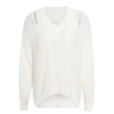 Hollow pullover sweater knit sweater