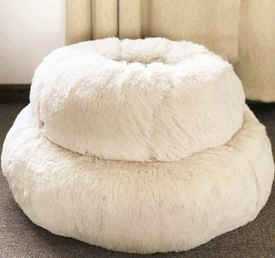 Autumn and winter thick plush round pet nest pad deep sleep cat nest kennel pet cotton nest