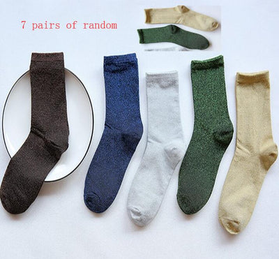 Pure colored whole cotton piled stocking