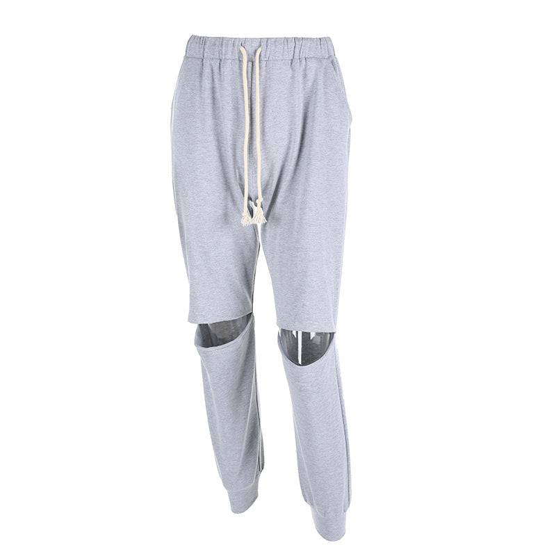 Shredded foundation casual pants