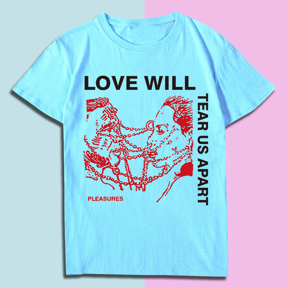 LOVE WILL T-shirt wish loose short sleeves