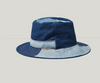 Cowboy blue block stitching fisherman hat