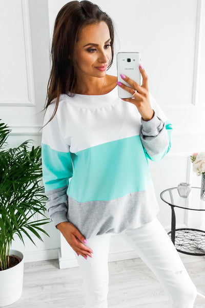 Round Neck Long Sleeve Loose Top