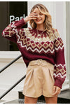 Ethnic wind sweater