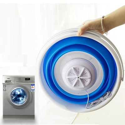 USB Portable ultrasonic turbine washing machine with foldable bucket