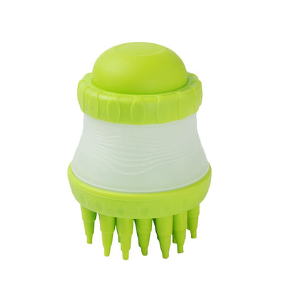 Practical Design Multifunctional Pets Scrub Buster Soft Silicone Dog Washing Brush Built-in Shampoo Reservoir