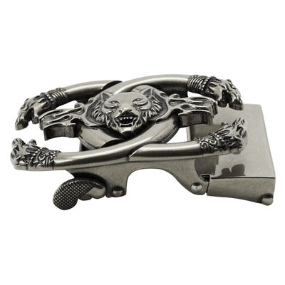 Wolf head buckle belt accessories
