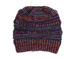 Mixed color knitted wool hat ladies do not label CC horsetail hat Europe and America