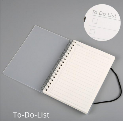 Plastic Cover Bound Spiral Coil Notebook