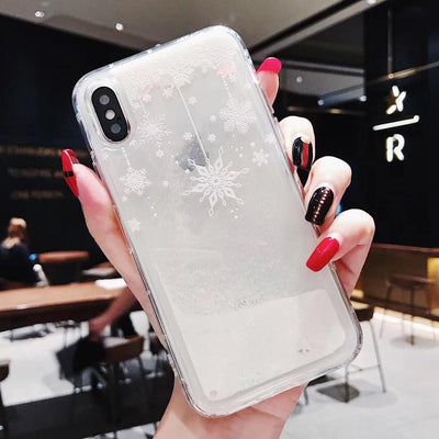 Christmas Snowflakes Mobile Case