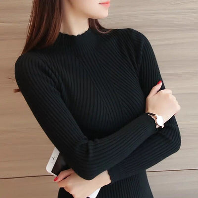 Ruffled long-sleeved bottoming shirt