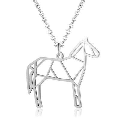 Pony pendant necklace