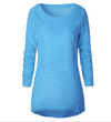 Solid color long-sleeved women's sweater tops Europe and the United States big plush