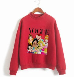 Cartoon funny turtleneck long sleeve sweater
