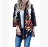 2020 autumn and winter new women's wholesale oil painting makeup print kimono cardigan coat