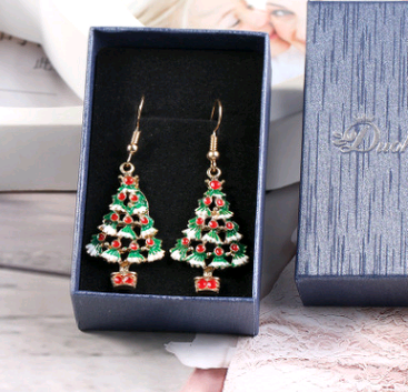 Christmas Day Ornament Christmas Tree Pendant Earrings Christmas Tree Earrings